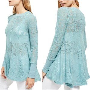 Free People Astral Sea Tunic Long Sleeve Top